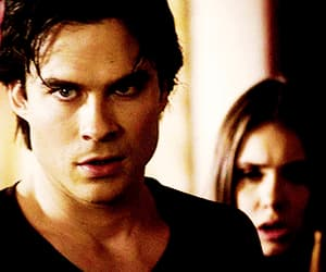 gif, the vampire diaries, and damon image
