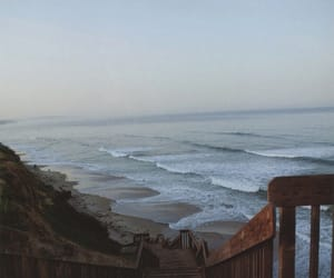 beach, california, and deck image