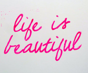 life, beautiful, and pink image