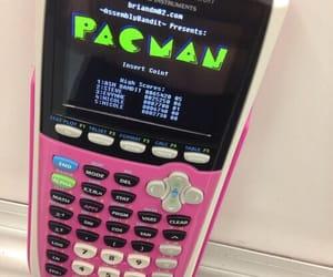 pac-man, pink, and geek image