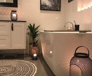 bathroom, bath, and candles image