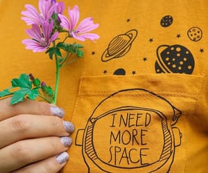 flowers, space, and yellow image