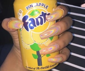 nails, fanta, and yellow image