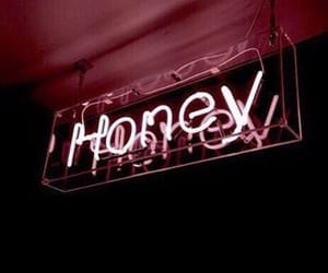 honey, lights, and pink image