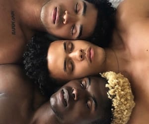 African, men, and sleep image