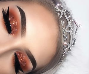 crown, eyeliner, and lashes image