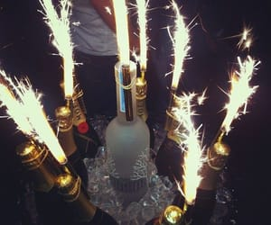 party, drink, and champagne image