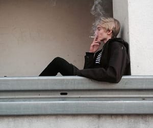 aesthetic, boy, and cigarettes image