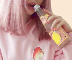 aesthetic, graphic tee, and pink image