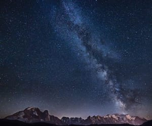 galaxy, landscape, and milky way image