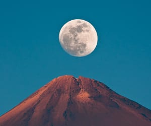 moon, mountain, and photography image