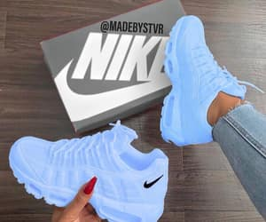 blue, nike, and sneakers image