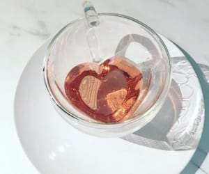 tea, drink, and heart image