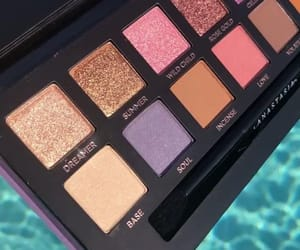 beauty, makeup pallet, and colors image