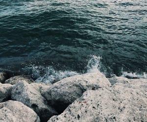 aqua, ocean, and waves image