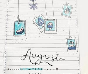 August, ideas, and bullet journal image