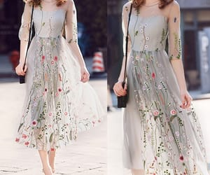 dress, flower, and casual look image