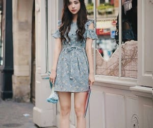 asian, blue, and dress image