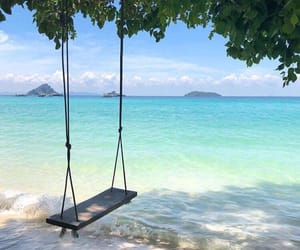 beach, beautiful, and thailand image