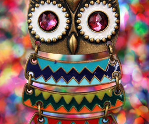 charm, owl, and necklace image