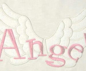 angel, embroidery, and girly image