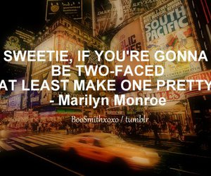 quote, Marilyn Monroe, and Sweetie image