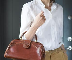 etsy, leather handbag, and genuine leather bag image