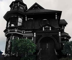 big house, black, and house image