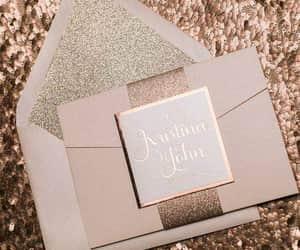 invitation, rose gold, and wedding goals image