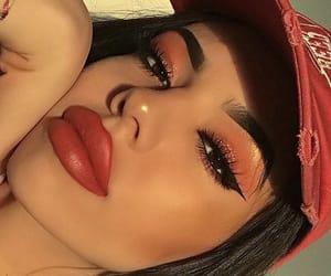 big lips, makeup, and pretty image
