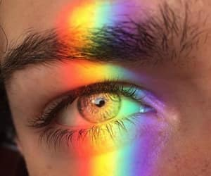 eyes, rainbow, and tumblr image