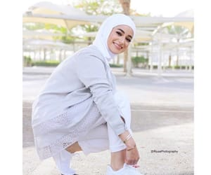 beauty, hijab, and white image