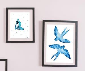 art, ocean, and bird image