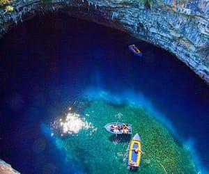 cave, Greece, and Island image