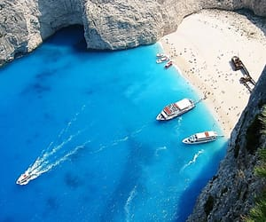 beach, Greece, and Island image