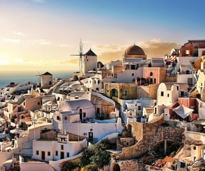 building, Greece, and cyclades image