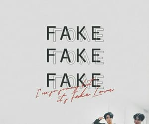 bts, wallpaper, and fake love image