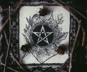 witch, rose, and witchcraft image