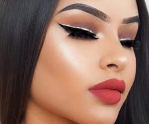 brown, eyeliner, and silver image