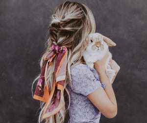 hair, braid, and bunny image