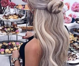 hair, hair color, and hair goals image