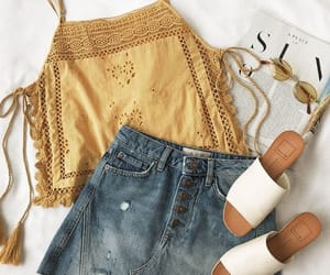 outfit, summer, and yellow image