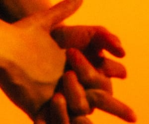 orange, aesthetic, and hands image