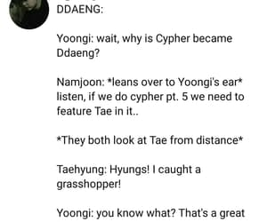 funny, jin, and tae image