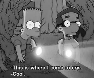 simpsons, cry, and bart image