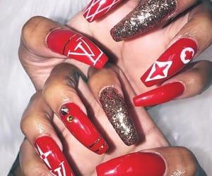 designer, glitter, and nails image
