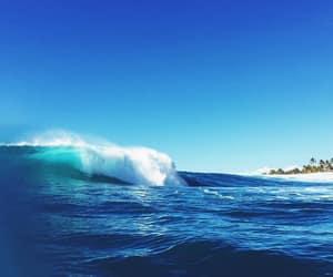 ocean, sky, and beach image