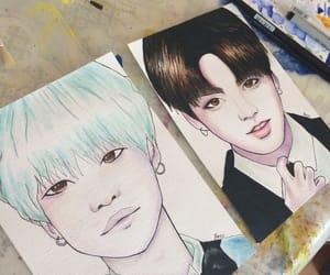 drawing, korean, and love image