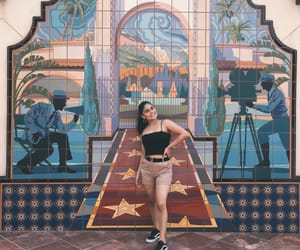 art, mural, and theme park image