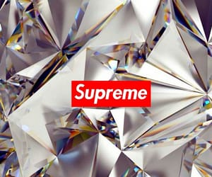 wallpaper, diamond, and supreme image